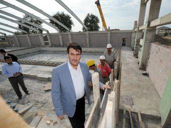 Demirtaş Kapalı Yüzme Havuzu'nun Kaba Inşaatı Bitti