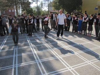 Okul Bahçesine Oyun Çizgileri