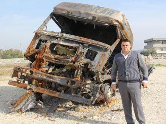 Suriye'de Tır'ları Yanan Nakliye Şirketleri Mağdur