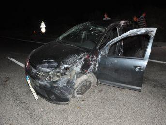 Soma'da Kaza: 1 Ölü, 1 Yaralı