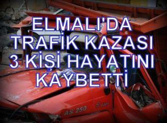 Elmalı'da trafik kazası 4 ölü