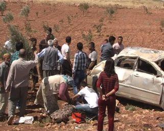 Köy yolunda kaza: 1 ölü 6 yaralı