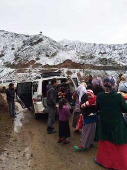 Damdan Düşen Kadın, Kar Nedeniyle Köyde Mahsur Kaldı