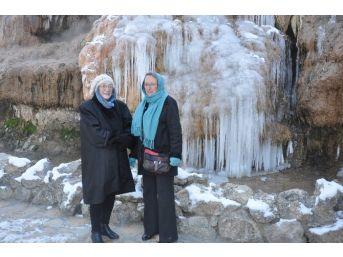 (özel) Sandıklı Kaplıcalarında Termal Şelale Bile Dondu