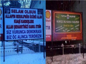 Bitlis'te Tartışmalı Afiş Kaldırıldı