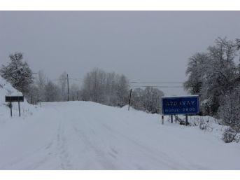 Kastamonu'da Kar Yolları Kapattı