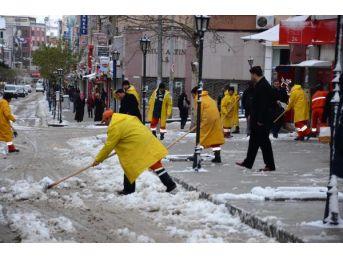 Yozgat Ve Kırıkkale'de Kar Etkili Oluyor (2)