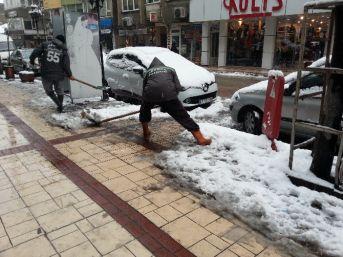 Belediye Başkanı Semerci Kar Temizleme Çalışmalarını Denetledi