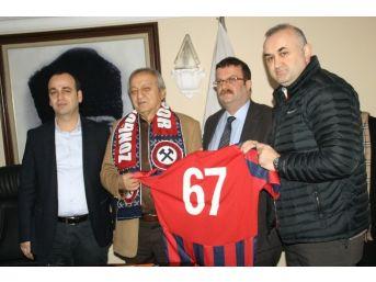 Zonguldak Spor Başkanı Caner'den Devrek Belediyesi'ne Ziyaret