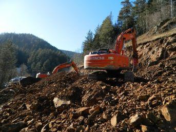 Posof'ta Kar Çalışması Değil Yol Çalışması Yapılıyor