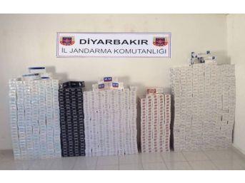 Diyarbakır'da 25 Bin Paket Kaçak Sigara Ele Geçirildi