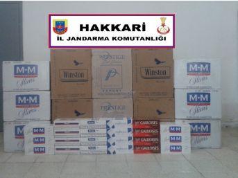 Hakkari'de 93 Bin 500 Paket Kaçak Sigara Ele Geçirildi