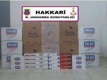 Hakkari'de 95 Bin Paket Kaçak Sigara