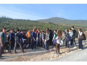 Milas'ta Öğrenciler Sınav Stresini Azaltmak İçin Doğa Yürüyüşün Yaptı
