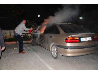 Eski Belediye Başkanı Tuncel'in Aracını Kundakladılar