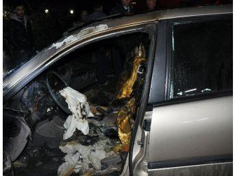 Kadirli Eski Belediye Başkanının Otomobili Kundaklandı