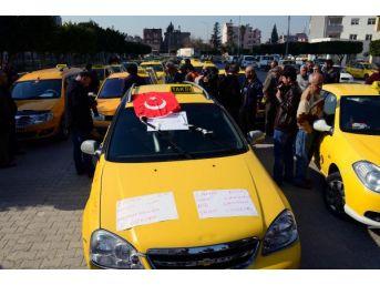 Adana'da Taksiciler Eylem Yaptı