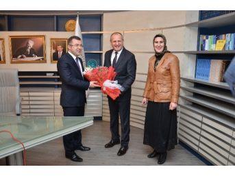 Ak Parti İl Başkanı Keskin Ve Yönetiminden Başkan Keleş'e Ziyaret