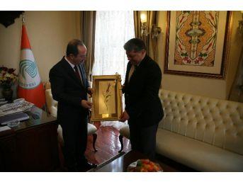 Emniyet Müdürü Baştuğ'dan Belediye Başkanı Gürkan'a Veda Ziyareti