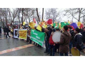Gaziantep'te Hdp Ve Dbp'liler Öcalan'a Özgürlük Istedi