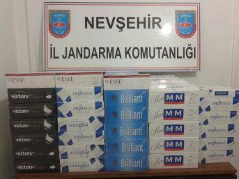 Nevşehir'de 3 Bin Paket Kaçak Sigara Ele Geçirildi