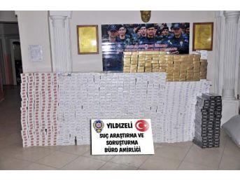 Yıldızeli'nde 10 Bin Paket Kaçak Sigare Ele Geçirildi