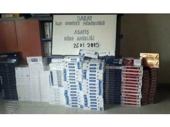Tekirdağ'da 4 Bin Paket Kaçak Sigara Ele Geçirildi