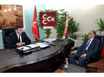 Mhp Milletvekili Aday Adayı Hacı Tülü'den İl Başkanı Ersoy'a Nezaket Ziyareti