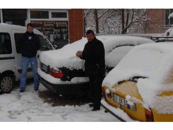 Simav'da Kar Yağışı