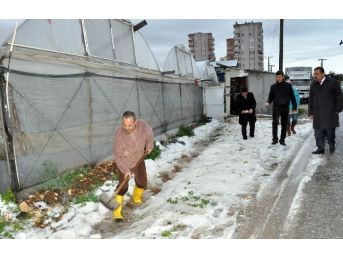 Mersin'de Dolu Ve Şiddetli Yağış