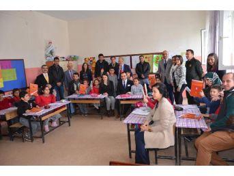 Amasya'da Gönüllü Gençler Ilkokulu Boyadı