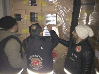Haydarpaşa Limanı'nda Kaçak Sigara Operasyonu