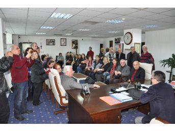 İzmir Eğit-der Ve Add'den Başkan Saka'ya Ziyaret