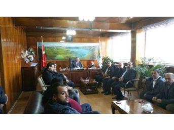 Aday Adayı Dağdağan'dan Başkan Aksoy'a Ziyaret