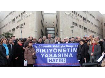Bursa'Da Avukatlardan Iç Güvenlik Paketi Protestosu