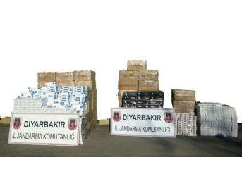 Diyarbakır'da 39 Bin Paket Kaçak Sigara Ele Geçirildi