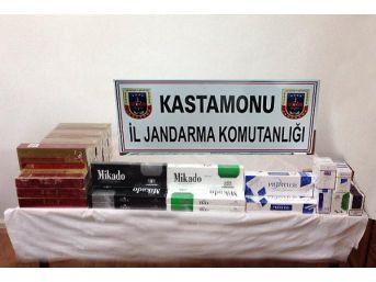Kastamonu'da Kaçak Sigara Ele Geçirildi