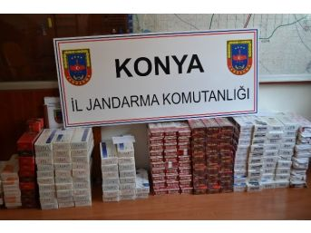 Kulu'da 2 Bin 500 Paket Kaçak Sigara Ele Geçirildi