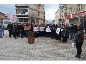 Hisarcık'ta Özgecan Aslan Protestosu