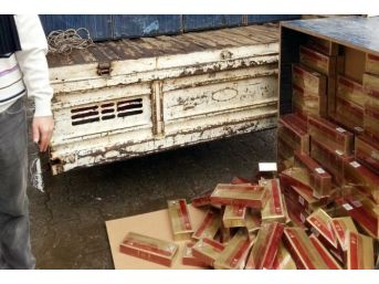 Mardin'de 22 Bin 300 Paket Kaçak Sigara Ele Geçirildi