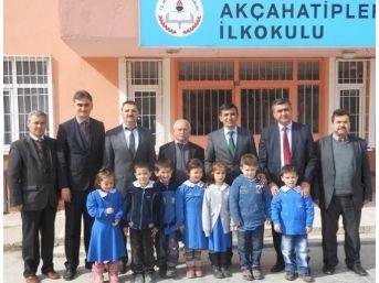 İlçe Milli Eğitim Müdürü Özdemir, Okul Gezilerini Sürdürüyor