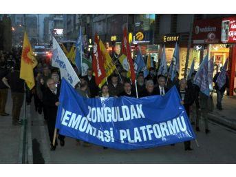 Zonguldak'ta İç Güvenlik Yasa Tasarısı Protestosu