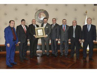 Atso Heyeti, Tobb Başkanı Hisarcıklıoğlu'nu Ziyaret Etti
