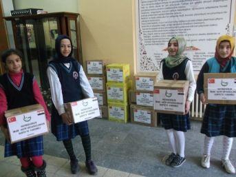 Hayırseverler İmam Hatip Ortaokulundan Suriye'ye Yardım
