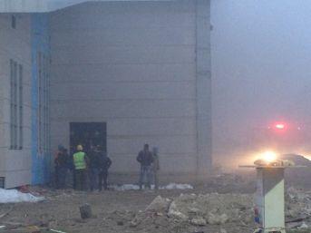 Spor Salonu İnşaatında Yangın