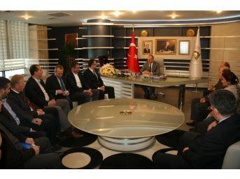 Başkan Mehmet Keleş, Mhp Yönetimini Ağırladı
