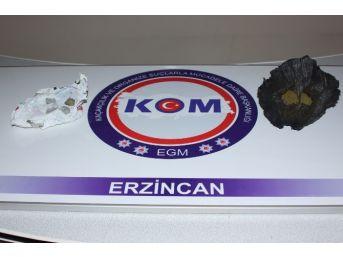 Erzincan'da 19 Kilo Toz Esrar Ele Geçirildi