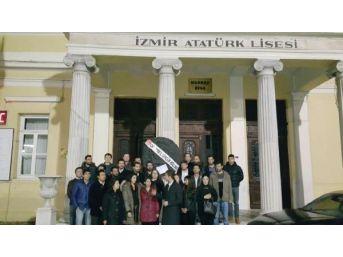 Chp'li Gençlerden Atatürk Lisesi'ne Siyah Çelenk
