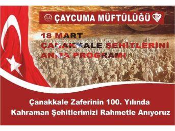 Çaycuma'da Çanakkale Şehitleri İçin Program Düzenlenecek