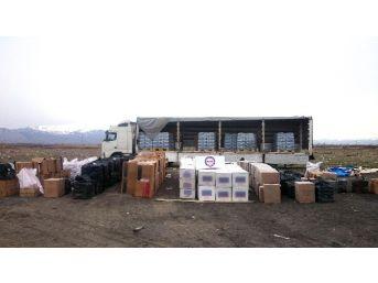 Erzincan'da 277 Bin 380 Paket Kaçak Sigara Ele Geçirildi